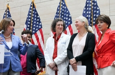 Cynthia Harper and other speakers at Women's Equality Day at UCSF